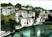 tableau paysages provence verdon eau automne : Début d'automne au Verdon