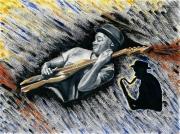 tableau personnages jazzman bassiste americain portrait : Marcus Miller