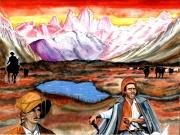 tableau paysages gaucho argentine patagonie pampa : Les gauchos, seigneurs de la pampa en Argentine