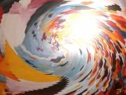 mixte abstrait cri jour eclats couleurs : CRI DU JOUR
