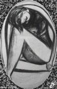 mixte personnages nu gris femme ovale repliement : NU GRIS