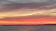 photo paysages ciel de feu lumieres iles de lerins mediterranee : CIEL DE FEU