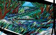 art numerique paysages foret de fontainebleau arbres rochers : FORÊT DE FONTAINEBLEAU
