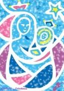 art numerique autres vierge marie enfant jesus etoile bethleem : VIERGE À L'ENFANT