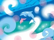 art numerique marine dauphins hymne harmonie mer : HYMNE