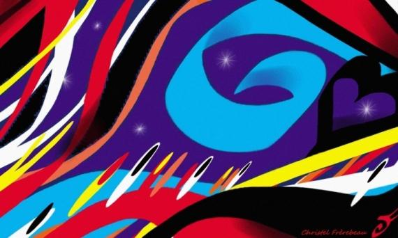 ART NUMéRIQUE AMOUR VENT CHANSON DAVID BOWIE Abstrait  - WILD IS THE WIND