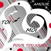 art numerique autres amour coeur blanc noir rouge toi et moi : COEUR ARDENT