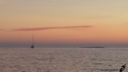 photo marine coucher de soleil mer mediterranee voilier iles de lerins : IMPRESSION MÉDITERRANÉE
