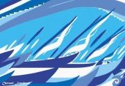 art numerique marine regate voiliers course vitesse : RÉGATE DE VOILIERS