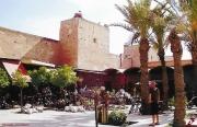 photo paysages souk de marrakech maroc medina palmiers : AUX SOUKS DE MARRAKECH