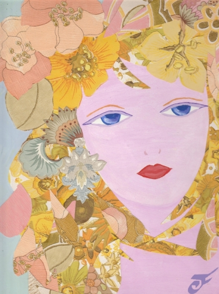 MIXTE PRINTEMPS FLEURS VISAGE COLLAGE  - LE PRINTEMPS