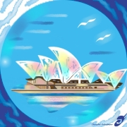 art numerique marine opera de sydney australieile oceanie hublot : L'OPÉRA DE SYDNEY