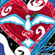 art numerique autres colombe saintesprit amour justice : COLOMBE D'AMOUR