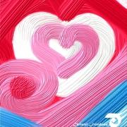 art numerique autres coeur bubble gum amour tendresse : COEUR D'AMOUR