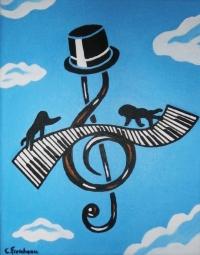 CLEF DE SOL AU PIANO