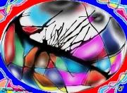 mixte abstrait vision onirisme couleurs fete : VISION ONIRIQUE BIGARRÉE