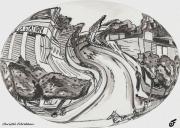 mixte paysages autrefois villiers sur marne vers 1900 rue de la gare : JOUR D'HIER
