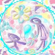 art numerique personnages enfants fleurs ballon fete : JOUR DE FÊTE