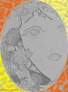 mixte personnages fille lune jaune mixte : FILLE DE LA LUNE JAUNE