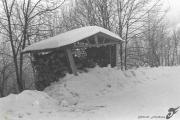 photo paysages savoie chevenoz bucher neige : SUR UNE ROUTE DE SAVOIE