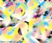 art numerique abstrait pop corn dance remix fete couleurs : POPCORN