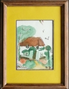 tableau paysages angleterre campagne : Cottage anglais