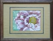 tableau fleurs pivoine rose portrait : pivoine