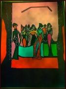 dessin scene de genre creation new art couleur style : banquet.2