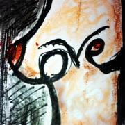tableau nus amour seins frederic bouillet : iloveyou