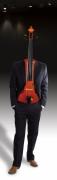 art numerique abstrait violon costume frederic bouillet : L'homme instrument