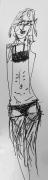 dessin personnages fine femme mince simple : Ficelle 1