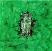 tableau abstrait entourer isoler frederic bouillet : Tour de vert
