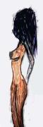 tableau personnages sauvage femme numerique plexi : Sauvageonne