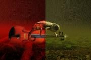art numerique abstrait cameleon nature musique violon : Cameleolon