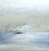 tableau paysages apaisement art contemporain acrylique paysage marin : Apaisement