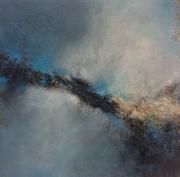 tableau abstrait aerien technique mixte art contemporain expressionisme : Aérien