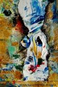 tableau personnages snowoman peinture desform acrylic : SNOWOMAN