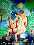 tableau personnages solstice d ete summer solstice desform paintings desform peintures : SOLSTICE D'ETE