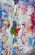 tableau abstrait cyborg postcard desform painter : CYBORG