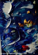 tableau paysages bluebyu desform painting abstract : BLUE BY U