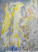 tableau abstrait angel desform painting canvas : ANGEL