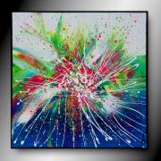 tableau abstrait tableau colore abstrait peinture : Vitalité