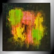 tableau abstrait carre abstrait peinture fait main : SKIZ'O