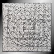 tableau abstrait tableau abstrait peinture gris : UN JOUR SANS FIN