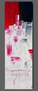 tableau abstrait tableau vertical abstrait rouge : RED BUILDING