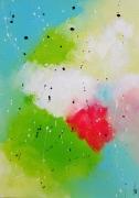 tableau abstrait vertical tableau peinture abstrait : Acidulé