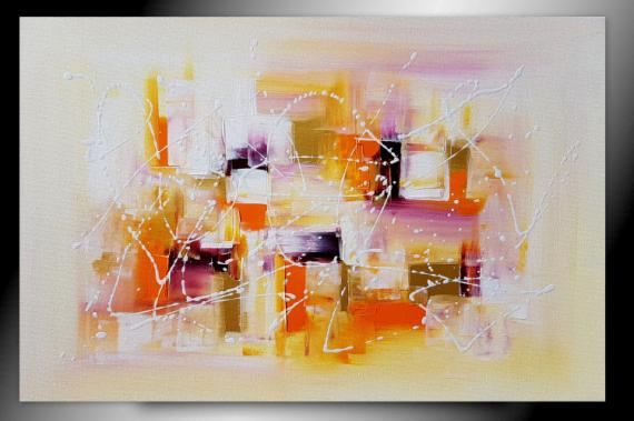 TABLEAU PEINTURE tableau orange abstrait peinture Abstrait  - VITAMINES