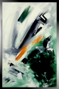 tableau abstrait tableau vertical abstrait vert : AIGUE-MARINE