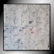 tableau carre peinture abstrait gris : POLAIRE