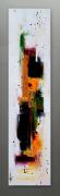 tableau abstrait tableau vertical abstrait contemporain : Liberté